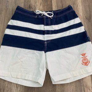 Vintage Men's Polo Ralph Lauren Stripe Swim Trunks